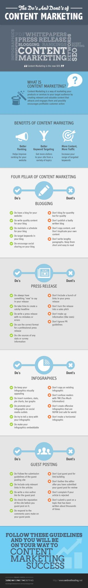content marketing infographics do's and don'ts
