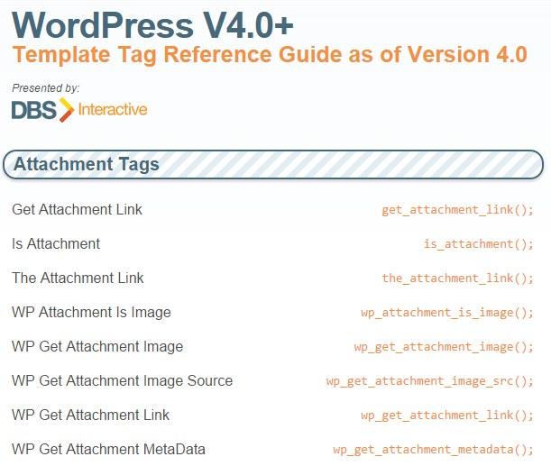 10 Best Wordpress Cheat Sheets For Designers And Developers